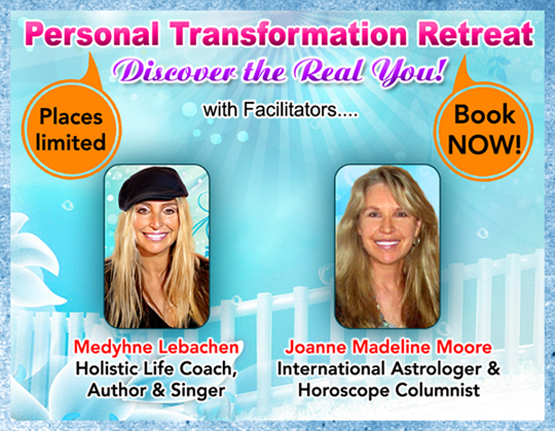 Personal Transformation Retreat with top international media astrologer Joanne Madeline Moore.
